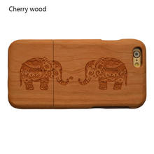 High Quality Wooden Bamboo Wood Hard Back Cover Case Protector For Apple Iphone 6 6S Plus