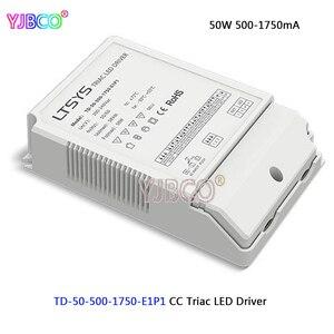 LTECH New Triac Dimmable intelligent LED Driver;TD-50-500-1750-E1P1;50W 500-1750mA 200-240VAC Input CC Triac Driver