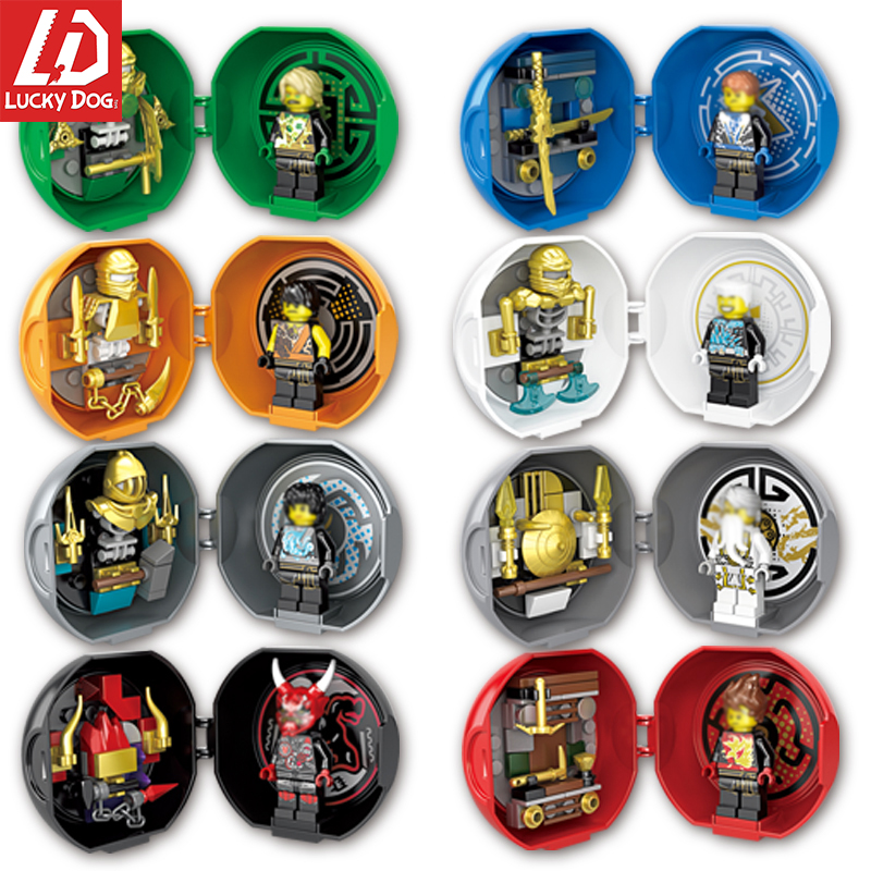 NinjagoING Blocks Jay Nya Cole Lloyd Zane Pythor Master Building Block Toys Compatible With LegoINGly Mini Figures Kids Gifts