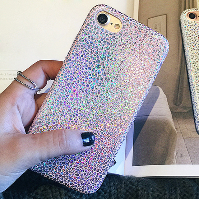 release date ab850 743a8 US $2.99  Hybrid Ray Glitter Case for iPhone 7 Plus Silicone Case Sparkle  Shockproof Protective Phone Cases Covers Bags for iPhone 6s Plus-in Fitted  ...