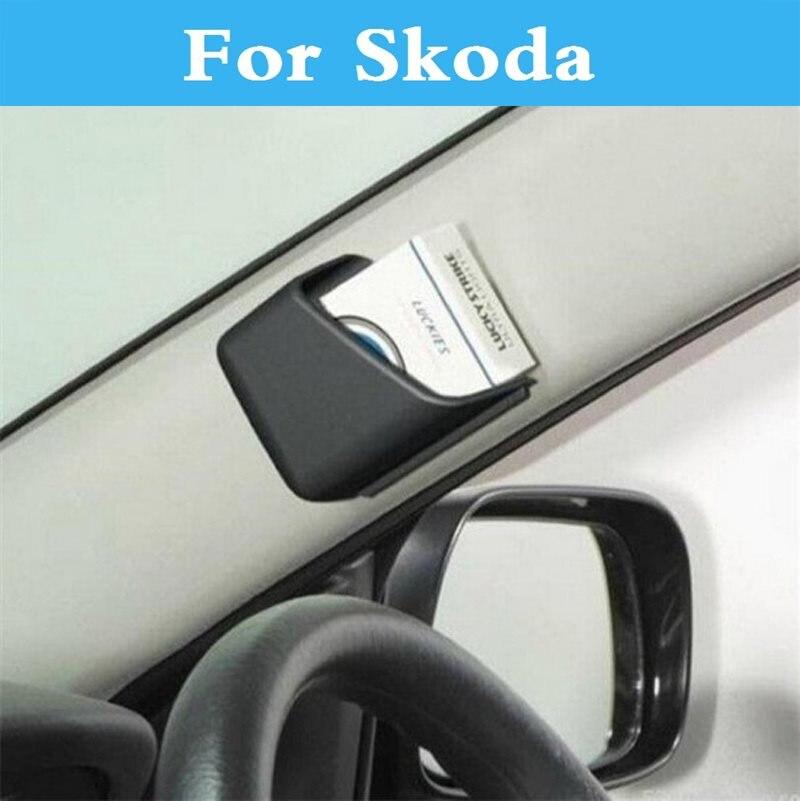 2PCS Car Styling Hanging Storage Organizer Box Pocket Holder For Skoda Citigo Fabia RS Octavia Octavia RS Rapid Superb Yeti