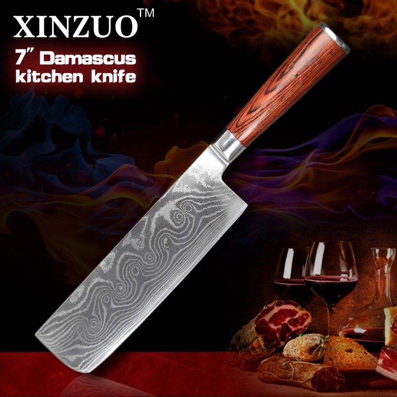 HOT 7 inch chef font b knife b font 73 Layers VG10 chef Kitchen font b