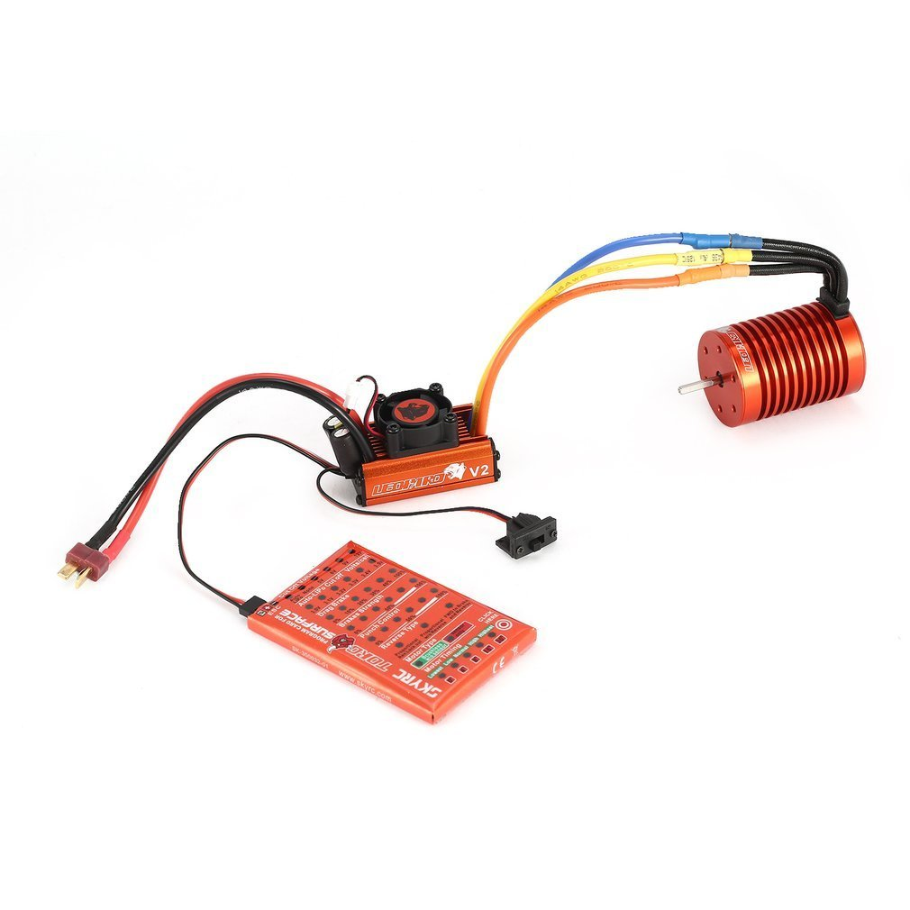 Skyrc Leopard 4370KV/9T/2P Brushless Motor + Program Card Combo Set For 1/10 Car +  Leopard 60A ESC RC Accs-in Parts & Accessories from Toys & Hobbies    1