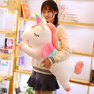 Image 2 - Western ตำนาน PUSHEEN Big Plush Unicorn ตุ๊กตาตุ๊กตาของเล่นตุ๊กตาตุ๊กตา Unicorn ปีกหมอนนุ่มสาววันเกิดของขวัญ Licorne