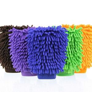 Image 2 - 2 шт., перчатки для чистки автомобилей, автомойка, полотенце из микрофибры, моющая щетка, очищающая тряпку, для дома, офиса, губки, средство для ухода за коралловой тканью
