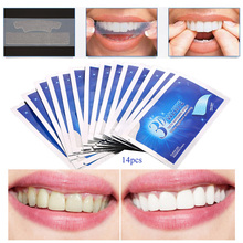 28Pcs/14Pair 3D White Gel Teeth Whitening Strips Tooth Dental kit Oral Hygiene Care Strip for false Teeth Veneers Dentist seks(China)
