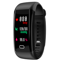 2018 Smart bracelet heart rate monitor Blood Pressure Fitness Tracker smartband sport watch for ios android PK xiaomi mi band 2