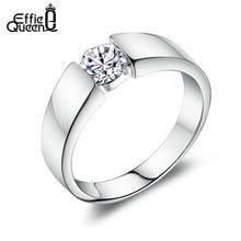 Effie queen Унисекс Новая мода Шарм бренд дизайн леди свадебное циркониевое кольцо Высокое качество для мужчин и женщин свадебные кольца DR03