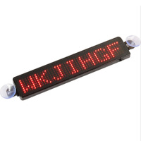 Car Rear Window Message Sign Scrolling Display Board LED Programmable with Remote for Cars/motorcycle/bicycle/vehicle, Red