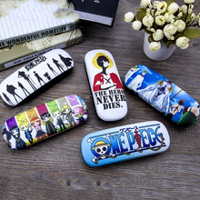 one piece Spectacle Case anime Gift Leather cartoon glasses case Luffy Chopper Roronoa Zoro Nami Sanji leather Bags цена 2017
