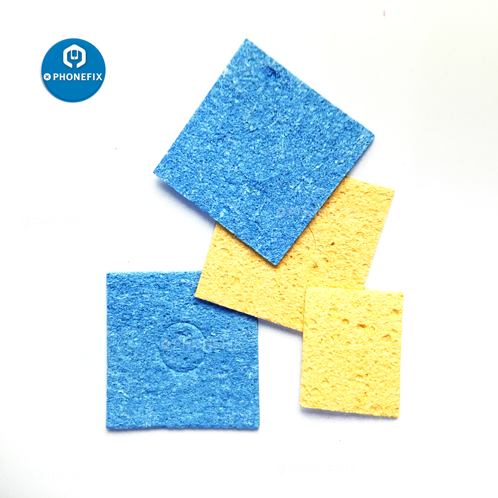 PHONEFIX Cleaning Sponge Soldering Iron Sponges Cleaning Pads For Soldering Iron Tip Welding Cleaning Sponge Accessories