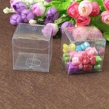 200ชิ้นตารางกล่องพลาสติกการจัดเก็บกล่องพีวีซีใสใสกล่องสำหรับกล่องของขวัญงานแต่งงาน/เครื่องมือ/อาหาร/เครื่องประดับบรรจุภัณฑ์แสดงDIY