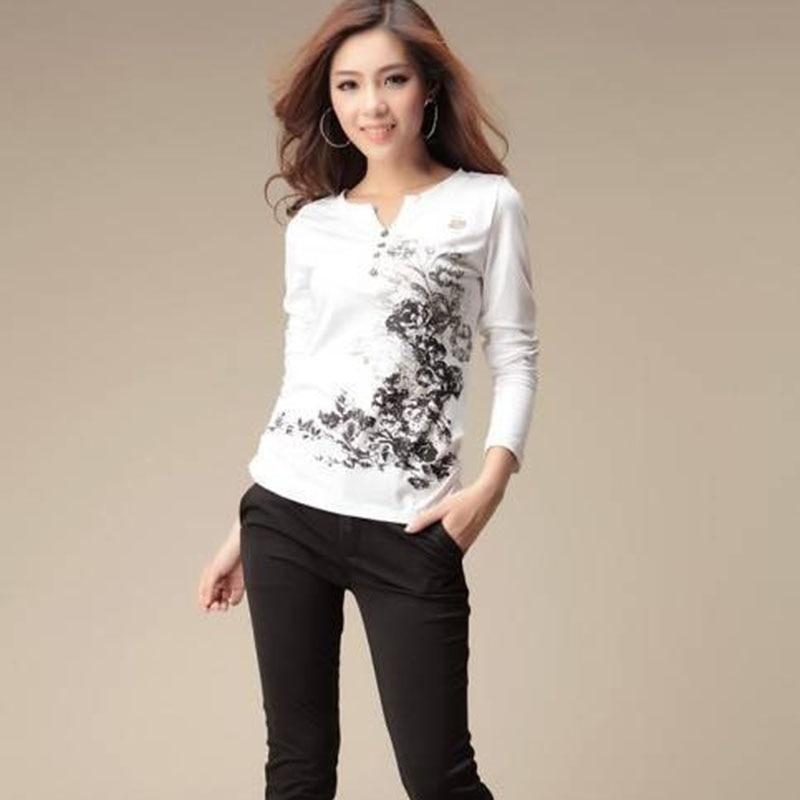 Mujeres Tops Moda 2019 Camisetas gráficas Camiseta de otoño - Ropa de mujer