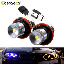 цена на 1 Pair Car Angel Eyes Demon Eyes Light car-styling LED Auto Lamp For BMW E39 E53 E60 E61 E63 E64 E65 E66 E83 E87 Error Free