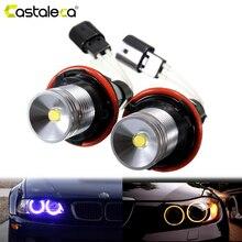 Lámpara LED para coche BMW E39, E53, E60, E61, E63, E64, E65, E66, E83, E87, sin Error, tipo Ojos de Ángel para coche, 1 par