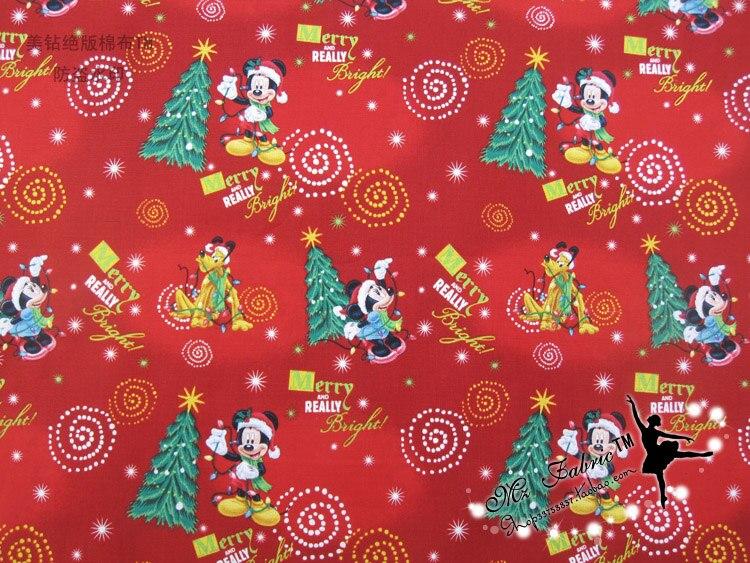 110 * 50cm1pc Weihnachten Stoff 100% Baumwolle Stoff Weihnachten - Kunst, Handwerk und Nähen - Foto 5