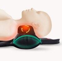 Шейки терапия инструмент Отопление массаж Электрический подушку магнит Air Давление массажер для шеи замешивая дом плечо назад