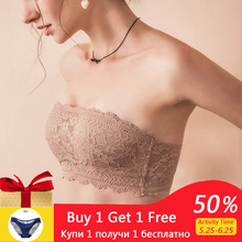 Summer Strapless Push Up Sexy Bras For Women Backless Dress Lace Seamless Underwear Soft Lady Small Chest Brassiere Top Lingerie