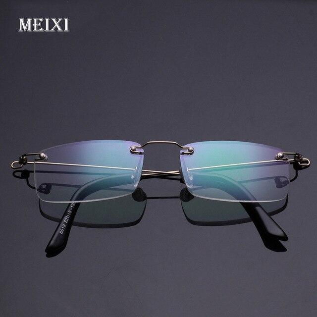Rimless Memory Metal Frame Aspherical Resin Ultralight Hmc Coating Reading Glasses Women Men Eyewear +1.0 1.5 2 2.5 3 3.5 4