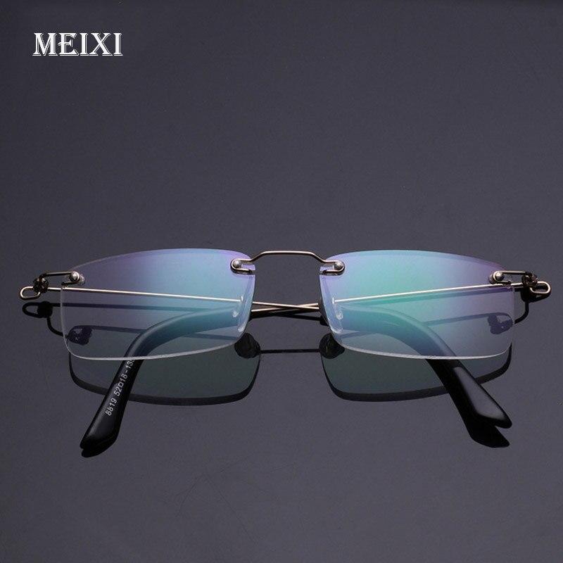 4141c65d7813a5 Sans monture Mémoire Métal Cadre Asphérique Résine Ultra-Léger Hmc  Revêtement Lecture lunettes Femmes Hommes Lunettes + 1.0 1.5 2 2.5 3 3.5 4