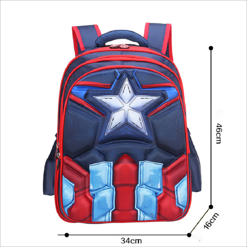 Hot High Quality Eva 3d Captain America Children School Bags Boy Spiderman School Backpack Suitable For 6-12 Years Old Kids Bag #5