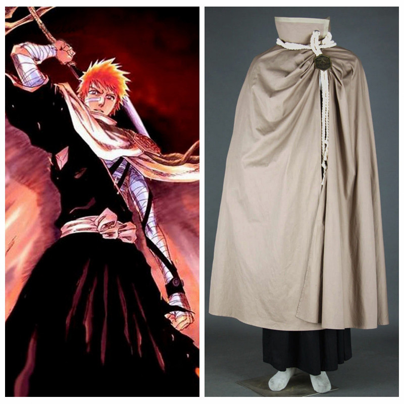 Ainclu Customize for adults and kids  New Free Shipping Bleach Kurosaki Ichigo Cosplay Costume