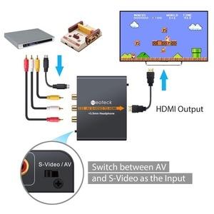 Image 4 - Neoteck Alloy 3RCA AV CVBS 컴포지트 S Video to HDMI 컨버터 AV S Video to HDMI 어댑터 (3.5mm 잭 오디오 포함)