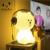 Coleção Teddy Linefriends Recarregáveis LED Branco Teddy Bear Brown Table Desk Lamp LED Luz Presente Das Crianças a Luz Da Noite