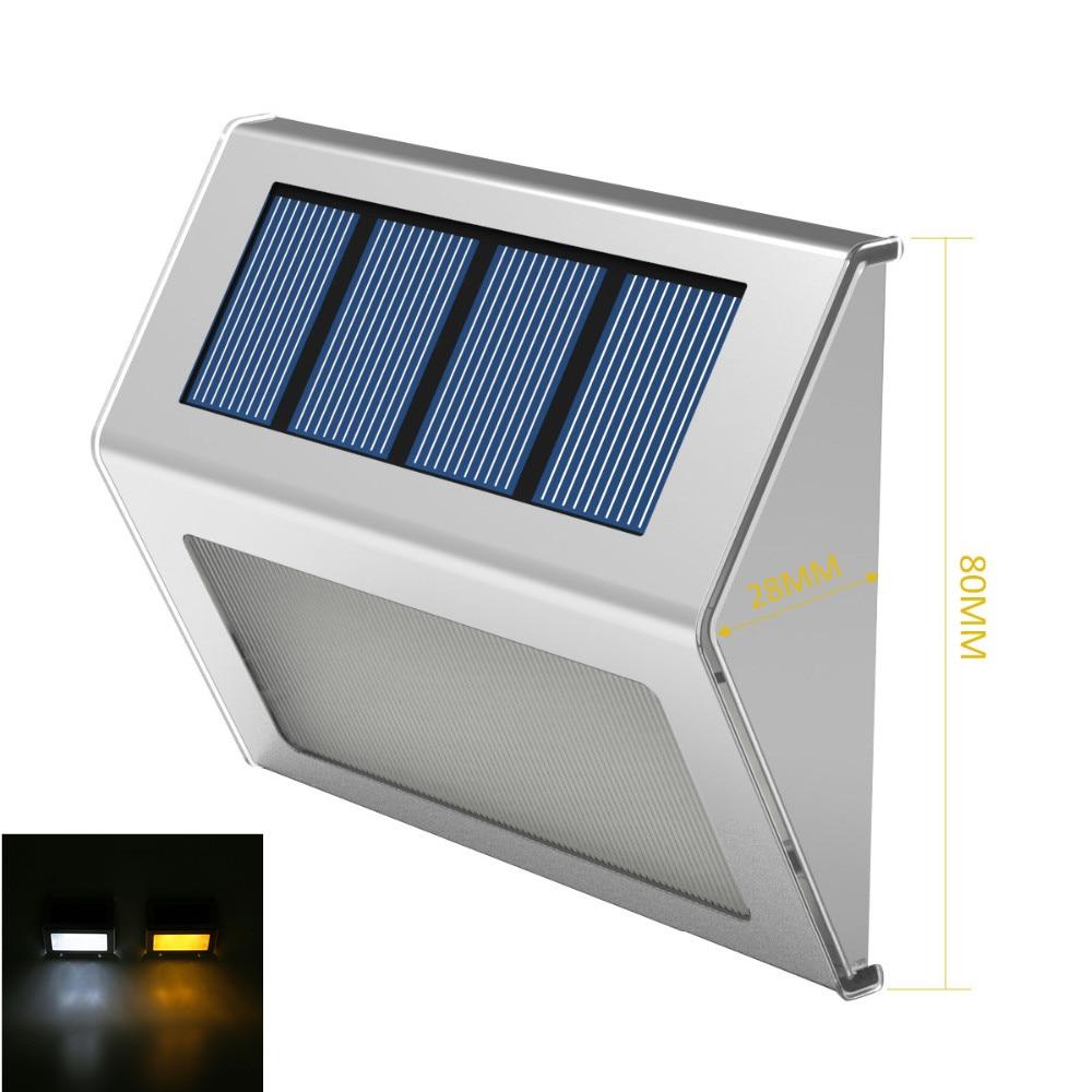Stainless Steel Outdoor Lighting led solar light Garden Decoration Wall Lamp Light Sensor