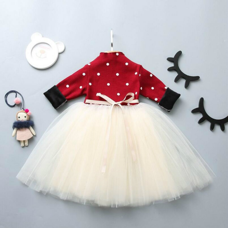 Kid Girl Dress Baby Clothing thicken Lace flowers Dress Long Sleeve Princess Dress Girls Clothes Autumn Children Wedding Dress warm thicken baby rompers long sleeve organic cotton autumn