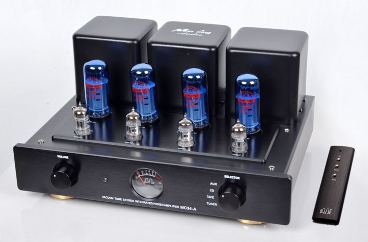 Meixing MC34-A Vacuum Tube Integrated Amplifier Blue EL34*4 Class AB1 Push-pull Power Amplifier 38W*2 110V/220V 3d model relief for cnc in stl file format panno christian
