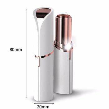 Micro épilateur très discret en forme de rouge à lèvre 1