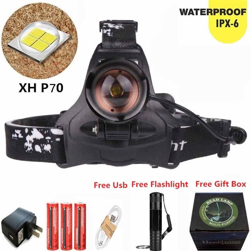Scheinwerfer Tragbare Beleuchtung Hingebungsvoll Super Helle Xhp70 Led Scheinwerfer Micro Usb Aufladbare 18650 Batterie Zoom Scheinwerfer Taschenlampe Laterne 4 Stil Lampe Licht