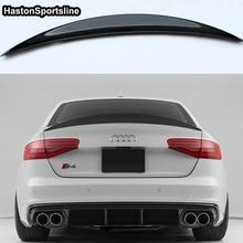 S4 HK Стиль углеродного волокна задний спойлер крыло для Audi A4 B8.5 S4 4 двери 2013