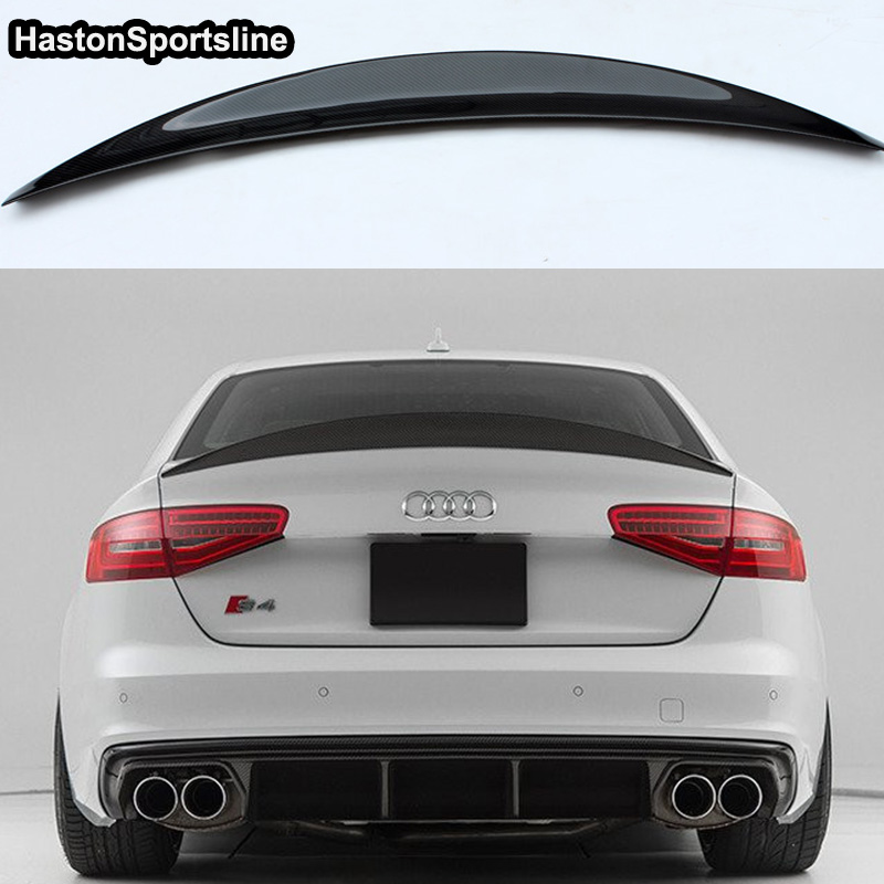 S4 HK Style Carbon Fiber Rear Spoiler Wing for Audi A4 B8.5 S4 4Door 2013~2016-in Spoilers & Wings from Automobiles & Motorcycles    1