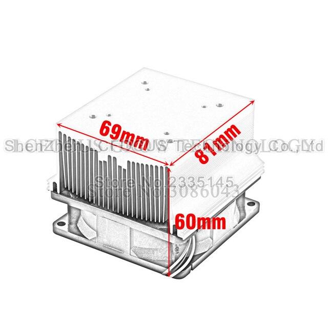 Radiateur de refroidissement de radiateur de LED + 60 90 120 degrés Lenes + support de réflecteur + ventilateurs pour 20 30 50 100 W Watt LED COB