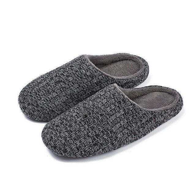 e746f86beb75 Fantasy Women And Men House Slippers Indoor Memory Foam Cashmere Cotton  Knitted Autumn Winter Anti-slip Slipper