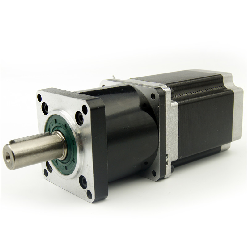 NEMA23 stepper motor with Planetary gearbox 4:1/5:1/10:1/16:1/20:1/25:1/40:1/50:1/100:1 reducer ratio Motor length 76mm 3A 4wireNEMA23 stepper motor with Planetary gearbox 4:1/5:1/10:1/16:1/20:1/25:1/40:1/50:1/100:1 reducer ratio Motor length 76mm 3A 4wire