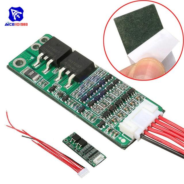 5 S 15A Li-Ion Lithium Batterij BMS 18650 Charger Bescherming Boord 18 V 21 V Circuit Korte Huidige Mobiele Bescherming met Draad Module