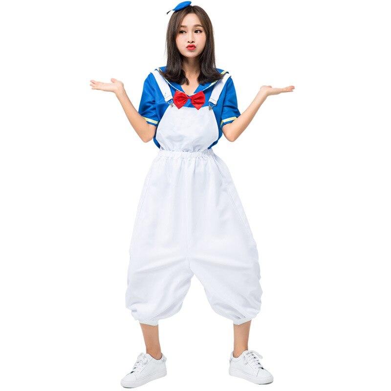 Costume de Cosplay Halloween Anime mignon canard marin Costume marine vent canard personnage de dessin animé jouer pour les filles et les femmes