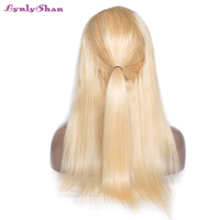 Lynlyshan Straight Brazilian Full Lace Wigs 100% Remy Human Hair 613 Color 10 30 inch Full Lace Wig With Baby Hair Free Shipping