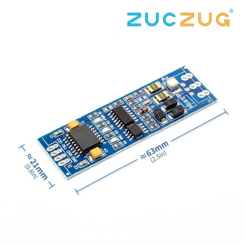 Adum5403 rs485 para ttl módulo ttl para rs485 conversor de sinal 3 v 5.5 v isolado único chip de porta serial uart módulo de grau industrial