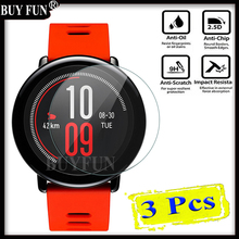 3PCS For Xiaomi Huami Amazfit Sports Smart Watchs xiomi Screen Protector Tempered Glass Anti Shatter Protective