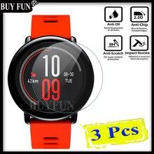 3PCS For Xiaomi Huami font b Amazfit b font Sports Smart Watchs xiomi Screen Protector Tempered