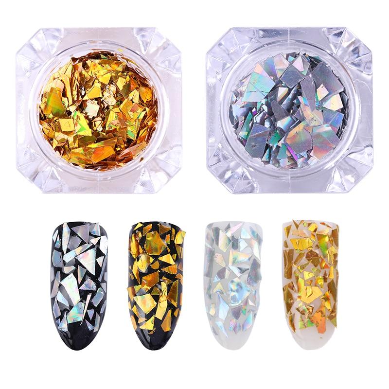 Ehrlich 1 Box 1,5g Zerkleinert Shell Glitters Silber Shell Pulver Gold Shell Pailletten Nail Art Glas Dekorationen Erschüttert Nägel Attraktiv Und Langlebig Nails Art & Werkzeuge