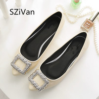 SZiVan Spring And Autumn New Women S Shoes PU Patent Leather Casual Woman Comfortable Shoe Diamond