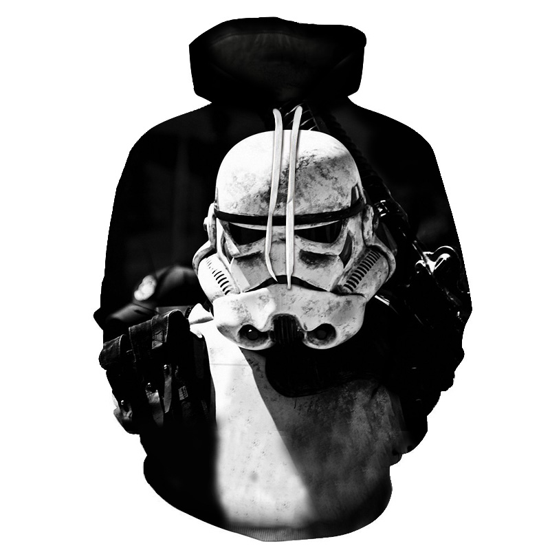 2018 Fashio New Hoodie Men Long Sleeve Star Wars Print Sweatshirt Leisure 3D Hoodies Women with Cap Hoody Men Clothing S-6XL