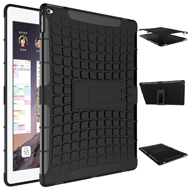 For IPad Pro 12.9 ShockProof Rubber Hybrid Heavy Duty Stand PC+TPU Hard Funda Case sFor Apple IPad Pro 12.9  Tablet Cover Case