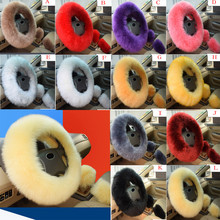 Universal Pure Plush wool steering wheel cover sleeve warm hand function car int