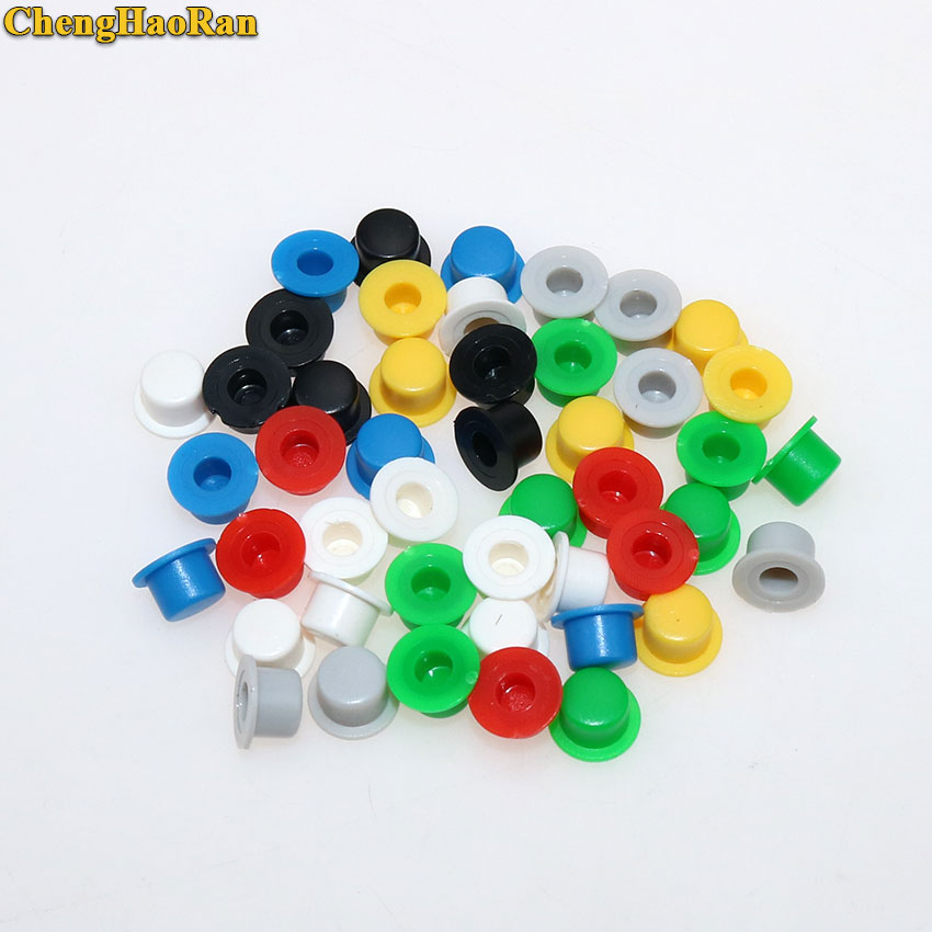 ChengHaoRan 20 PCS A101 Plastic Switch Button Caps Push Key Caps Multicolor Size 4.5mm*7.4mm Hat Shape For 6*6 Round Tact Switch